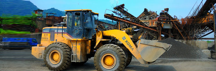 XG955III loader works in a quarry in Taiwan flexible steering, convenient operation