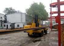 3吨侧面叉车铁路物流作业
