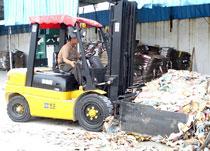 3吨叉车纸业公司作业